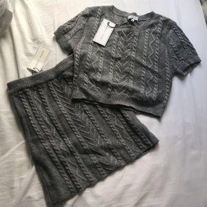 NWT Grey Knit Set